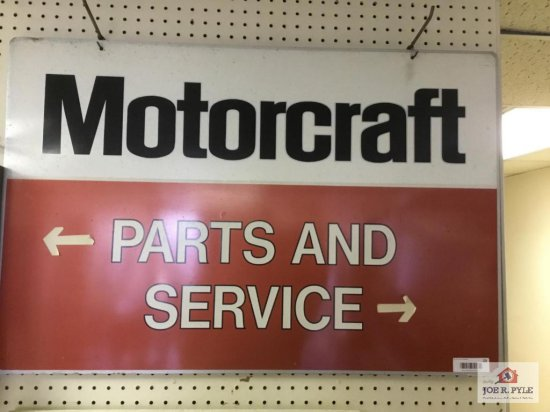 Motorcraft parts ; services double sided metal sign