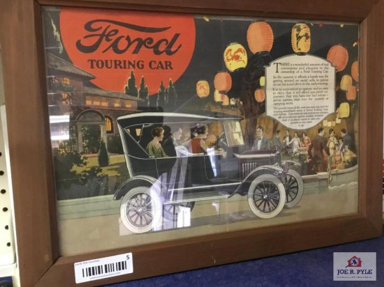 """Ford Touring Car Advertising Sign (17""""x11.5"""")"""