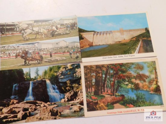 Post Card's State Fair - Sutton - Fall's Gassaway - Jackson's Mill , Coopers Rock, Philippi, Salem,