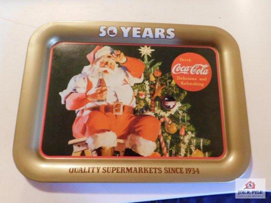 Coca Cola Tray 50 years Big Bear Quality Super Markets