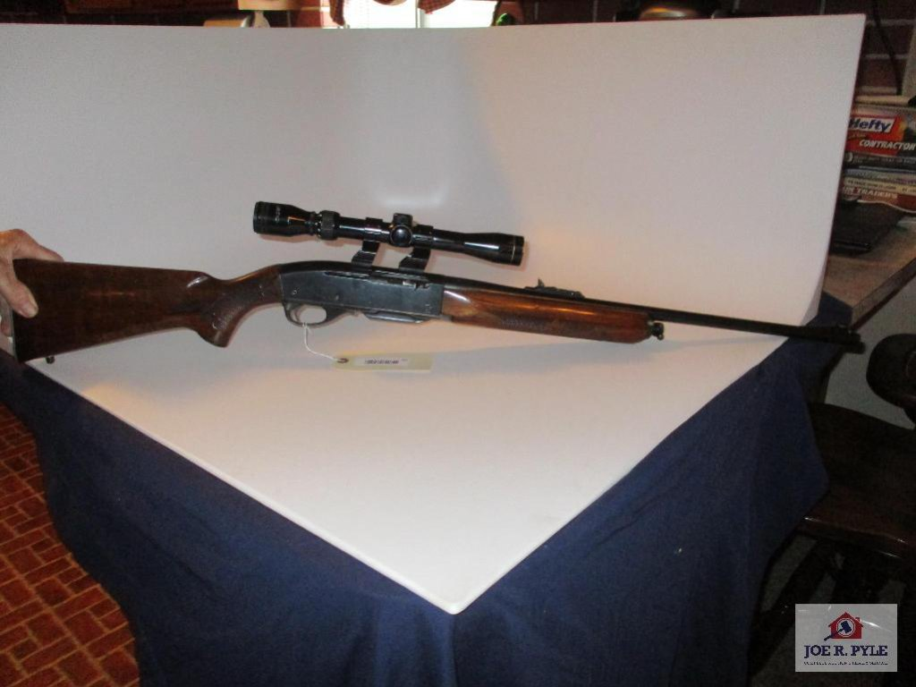 Remington Woodmaster Model 742, Cal 30.06 #297676 Semi-Auto with clip has Tasco scope 3x9x32 with