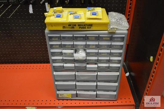 fuse box organizer with large variety of fuses