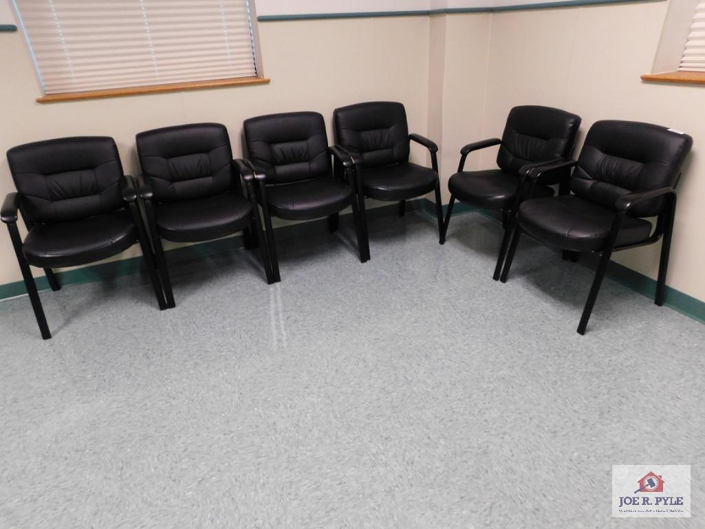 6 Black waiting room chairs   Industrial Machinery ...