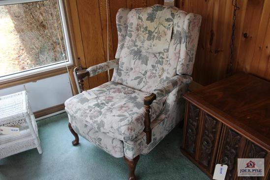 Bradington Young flower print recliner arm chair