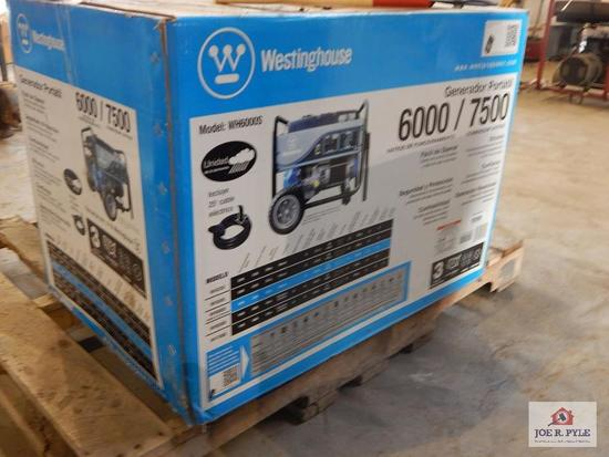 Westinghouse 6000 w portable generator- brand new in box