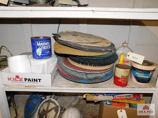 One Lot of Floor Scrubber Pads and Brushes and Extras