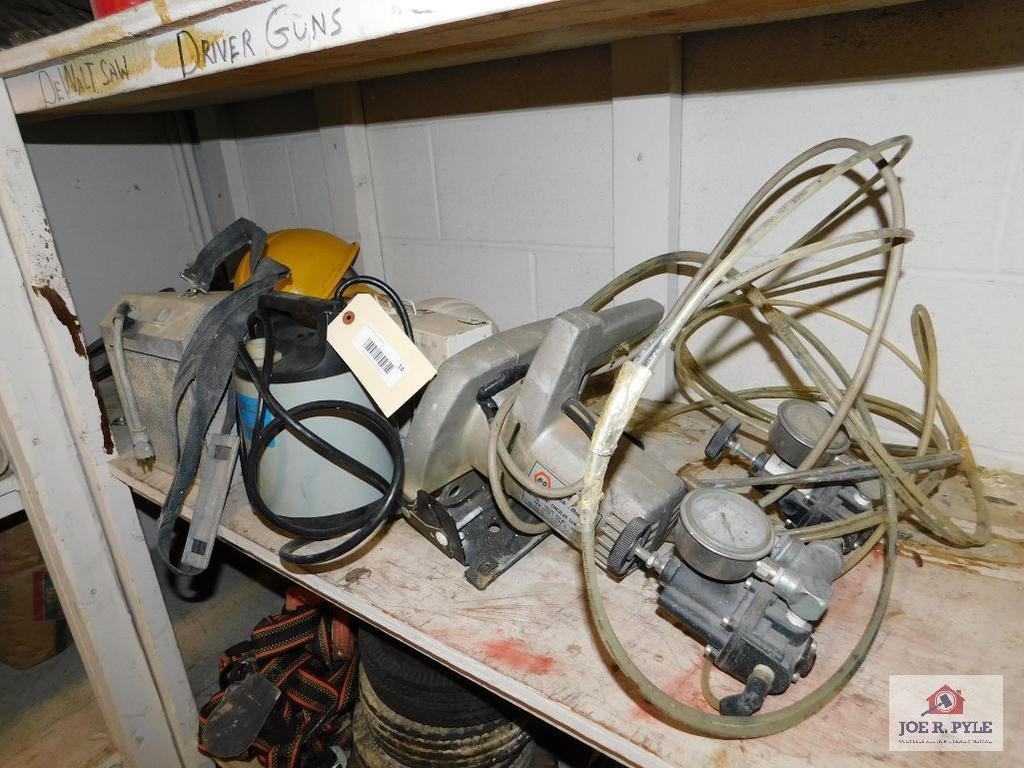 Submersible Pump, Circular Saw, First Aid Kit and extras