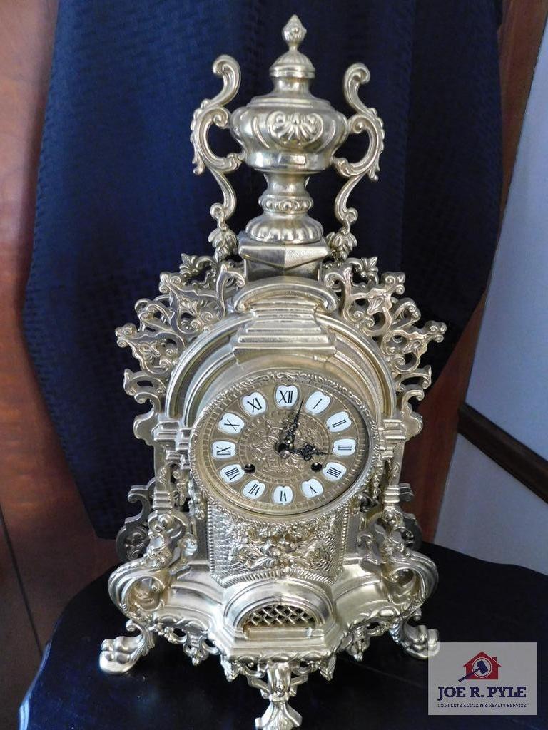 Franz Hermie 130-070 Cast Metal ornate clock