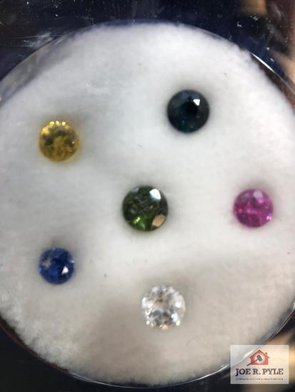 6 various round stones 2.20 total carat weight