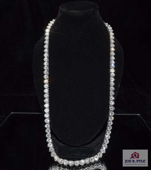 Lady's diamond necklace
