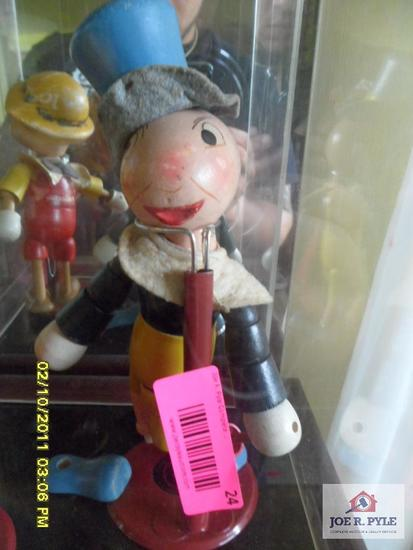 Jiminy cricket marionette made by ideal novelty