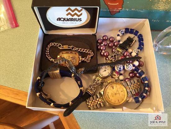 Lot of jewelry: Rolex watch not verified