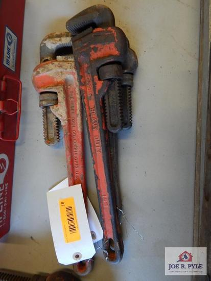 3 Rigid heavy duty pipe wrenches