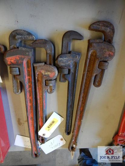 4 Rigid heady duty pipe wrenches