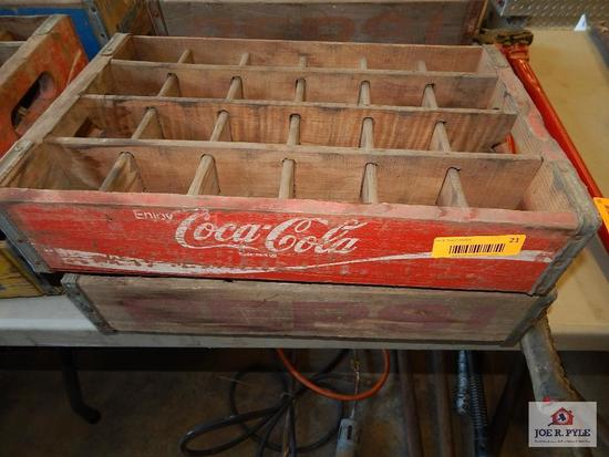 1 Coca Cola 1 Pepsi Early wooden crates