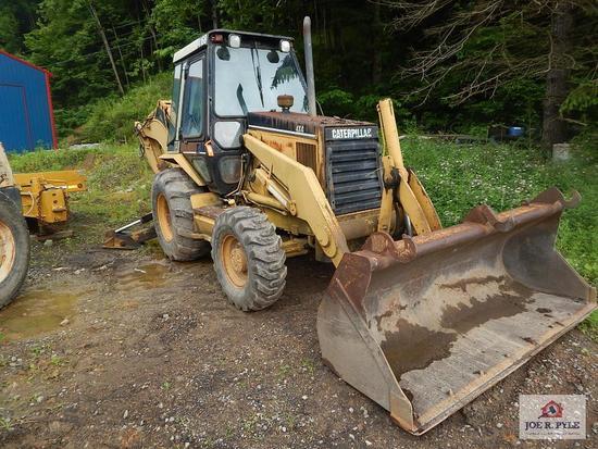 1994 Caterpillar 416B rubber tired back hoe loader 8SG05410 4X4 6358 Hours