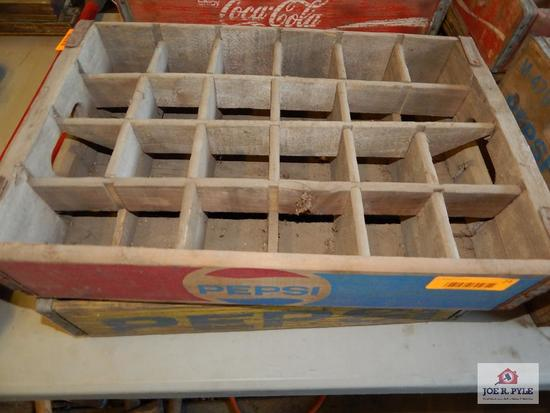 2 Early wood Pepsi crates