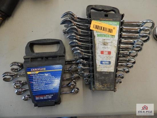 Standard and metric wrench set