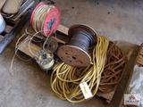 Lot of rope, wire