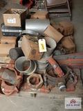 Lot of press on fittings, pipe fittings