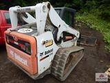 2012 Bobcat skid steer A3P811959 full cab with rubber track 2143 hours