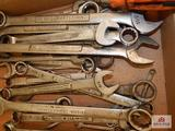 Flat of Craftsman wrenches