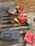 Lot of gas cans, safety cans