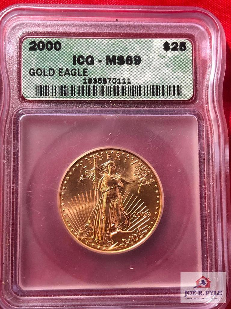 2000 MS-69 Gold Eagle Liberty Coin
