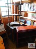 Bookcases and corner shelf