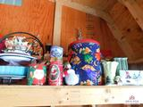 Christmas decorations, kitchen items