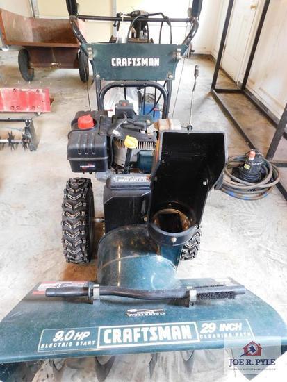 Craftsman 9HP, electric start snow blower and gravel skids