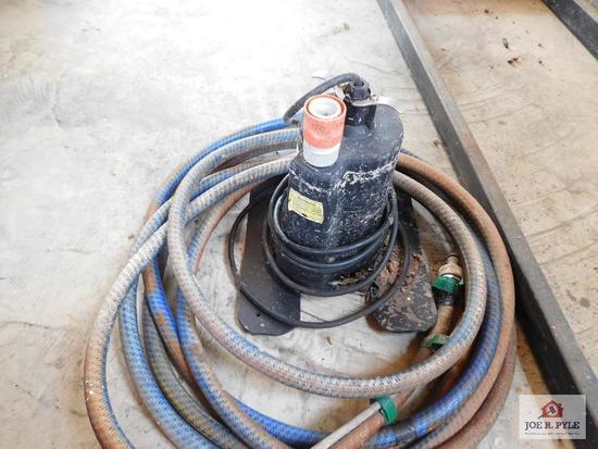 Sump pump w/hose