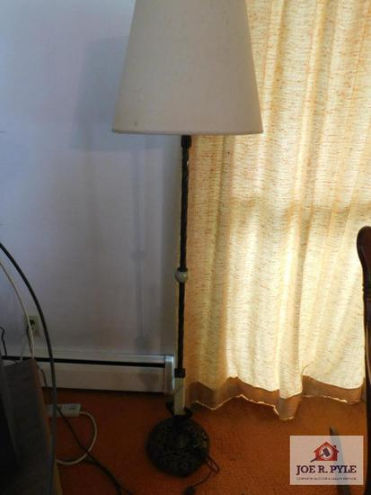 Antique floor lamp w/marble accents