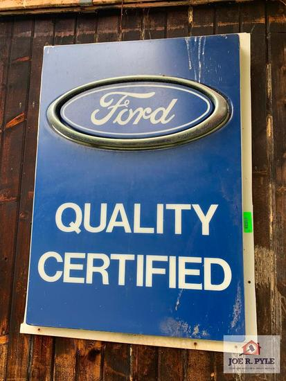 Ford Quality Certified Sign