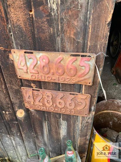 Pair Of 1923 Ohio License Plates