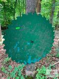 Green Saw Blade Approx. 3 Ft Round