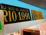 Rio De Janero 1991 License Plate (2 Count)