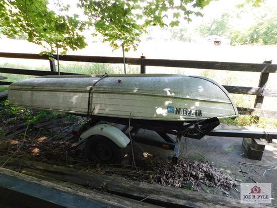12 ft. alum. Boat w/ trailer