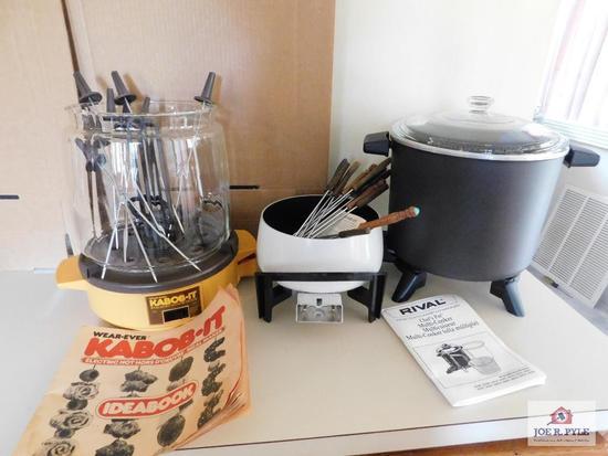 M cooker, Kabobit, fondue pot(no cord)ulti