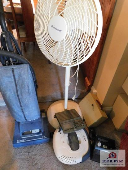 Vacuum, floor fan, V-bot automatic floor sweeper, mail scale