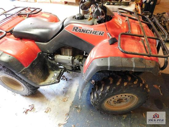 Honda 4x4 Rancher, Elec, starter needs work