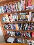Bookshelf contents: Catherine Coulter, Janet Evanovich, Iris Johansen