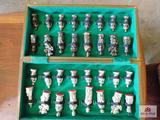 Diecast chess set w/board