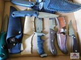 Knives and sheaths