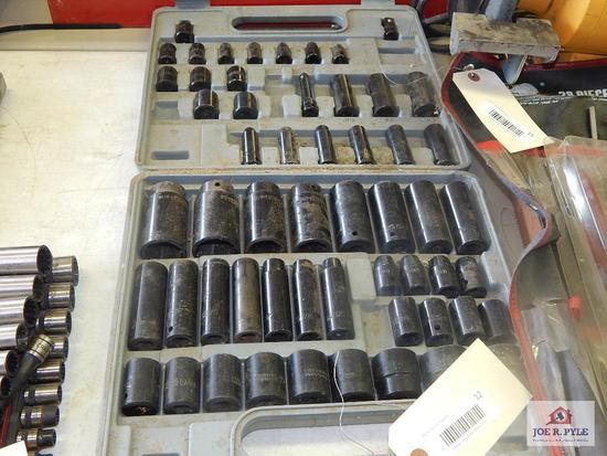 Chrome impact socket set