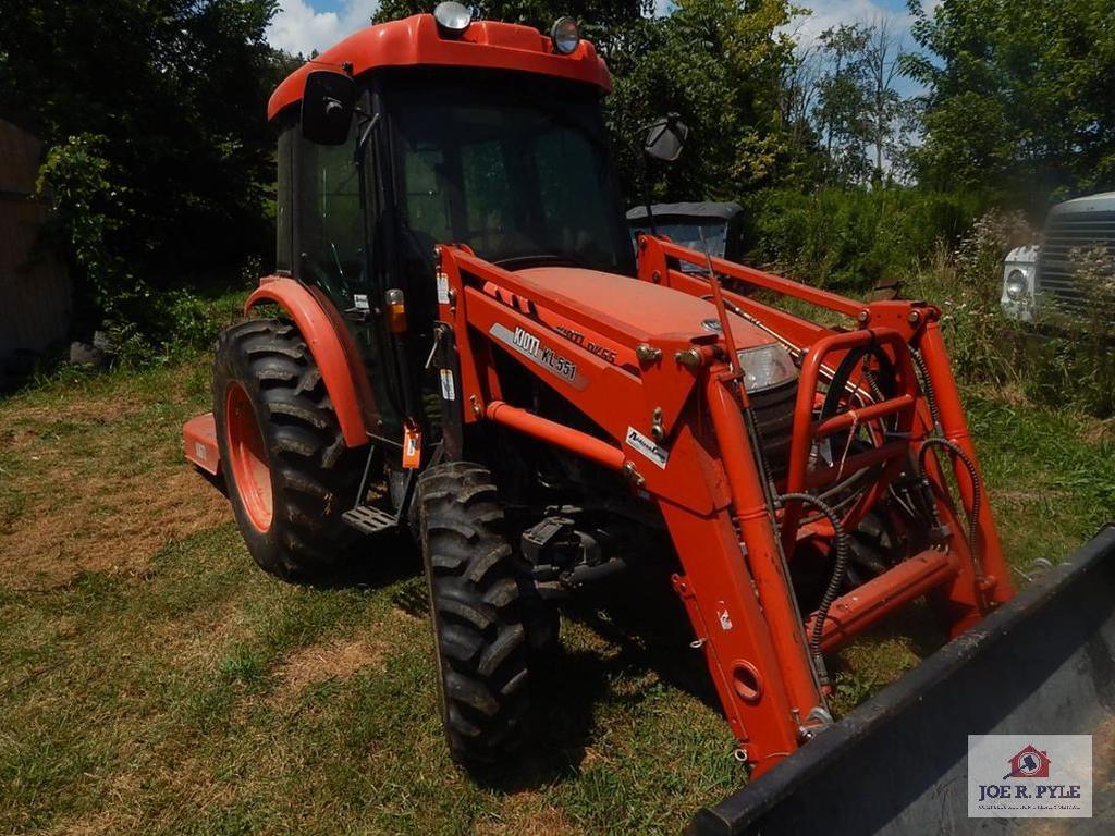 Kioti DX55 traction w/ cab, loader 4x4/332