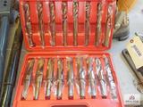New set of metal drill bits