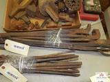 Blacksmith tongs and forging tools