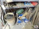 1 lot of metal and buckets, etc.