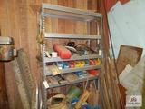 Grey metal shelf